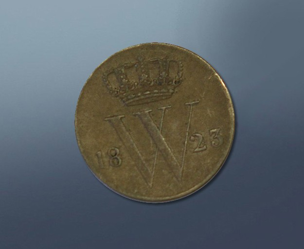 0,5 cents - 1823 Netherlands