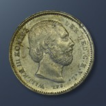 25 cents - 1849 The Netherlands