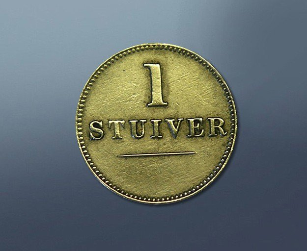 1 stuiver - 1880 Nederland