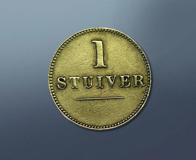 1 stiver - 1880 Curacao