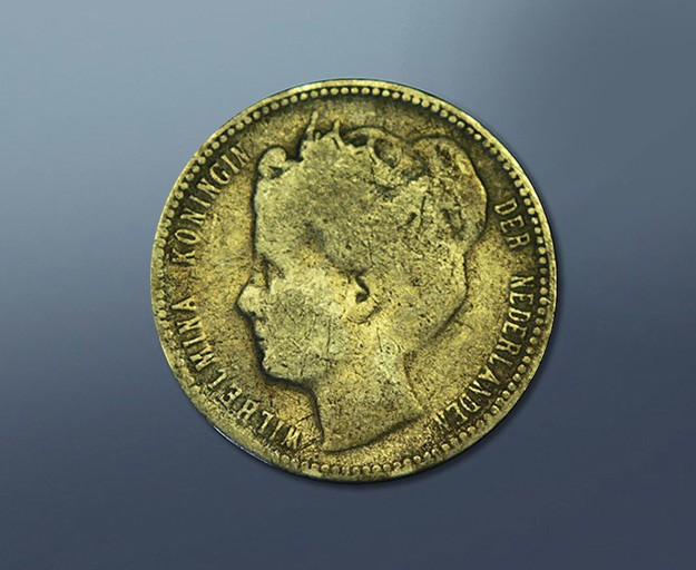 0,25 guilder - 1900 Curacao