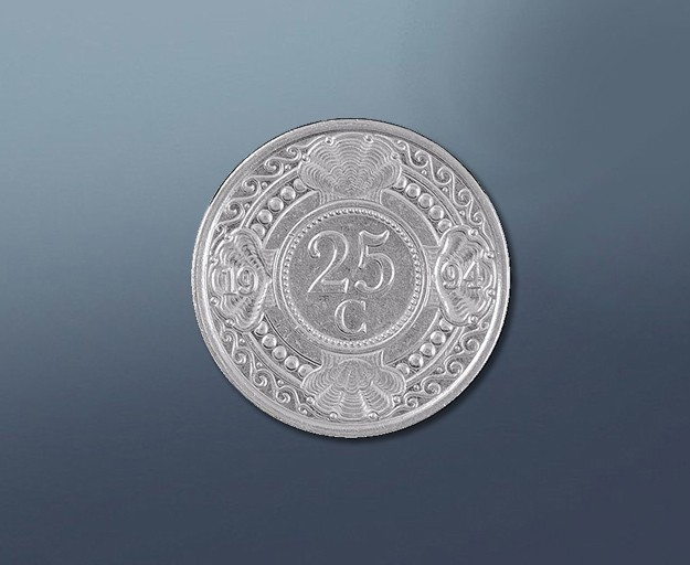 25 cent - current Curacao