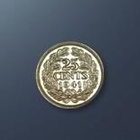 25 cents - 1941 Curacao