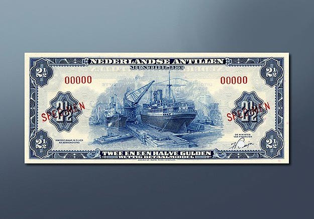 2,5 guilder banknote 1955 Series