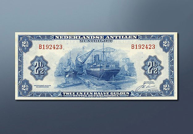 2,5 guilder banknote 1942 series