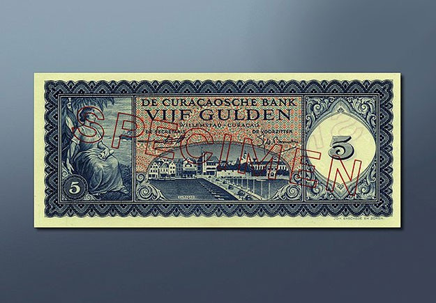 5 guilder banknote 1954 Series