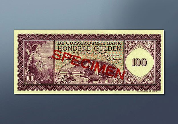 100 guilder banknote 1954 Series