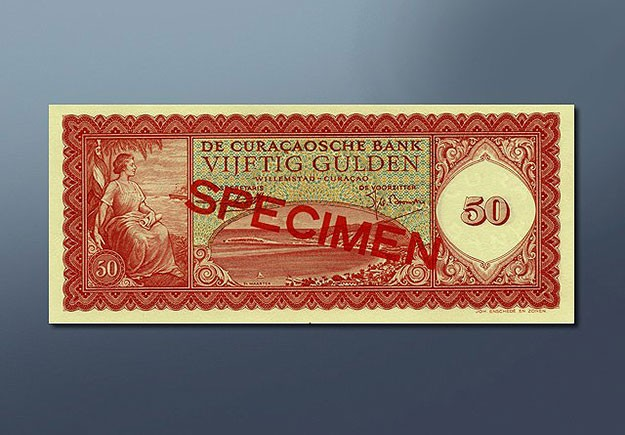 50 guilder banknote 1954 Series