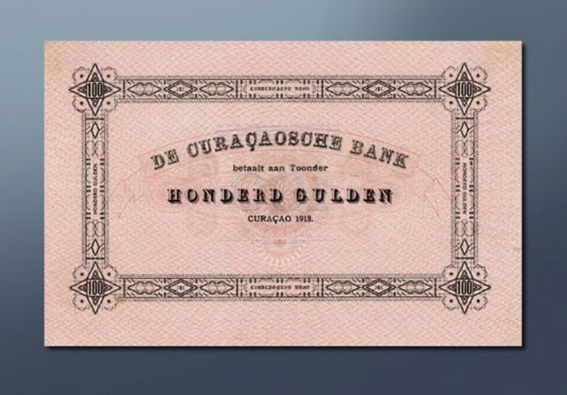 100 guilder banknote 1918 Series