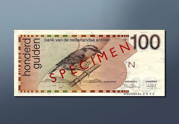 100 guilder banknote 1986 Series